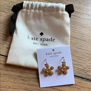 Kate Spade Marguerite flower earrings NWT